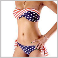 Women Bikinis National Flag 2013 Hot fashion women American Flag beach Bikinis sets Summer Beachwear Padded Bikinis Swimwear Bikini Set Bathing Swimming Suit 2 colors