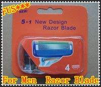Wholesale 1600pcs Neutral package Blade Best quality for Men Razor Blade F4 Model Grade High Quality razor blades pack DHL