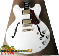 Hollow Body antique es - Antique Legendary Semi Hollow Custom th Anniversary ES Electric Guitar white