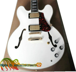 Wholesale Antique Legendary Semi Hollow Custom th Anniversary ES Electric Guitar white