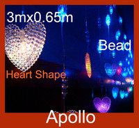 Wholesale Romantic LED Bead Curtain Light m m Heart Shape Leds Door Curtain Backdrop Tent Fly Xmas Wedding Party Porch Fairy String Lamp