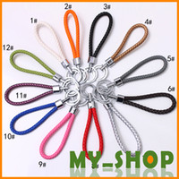 Wholesale New woven key chain leather key chains Bag device key ring