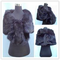 New Stock Black Faux Fur Fluffy Fold Wedding Bridal Shawl Wr...