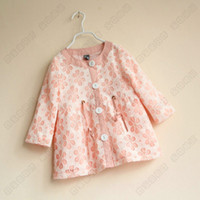 baby girl kids autumn long sleeve lace coat vintage flower f...