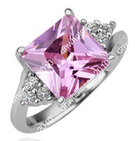 Wholesale 2013new Sell like hot cakes K gold ring White swarovski gems pink crystal ring R150