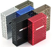 Rectangular   cigarette case wholesale-- Mesh Aluminum Alloy Portable Hollow Out Cigarette Case 20 Cigarette Pack