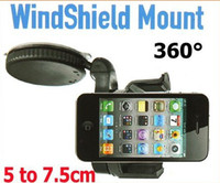 phone holder For Apple iPhone  FREE DHL--Universal Windshield Dashboard Car Holder Mount for iPhone 4 5 Mobile Phone Cellphone GPS PAD Accessories wholesale