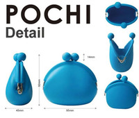Wholesale 2013 Fashion POCHI Silicone Coin Purse Accessories multi pouch jelly candy color wallet key money bag bags handbag hot sell