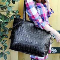 promoción Venta por mayor caliente Vogue mujeres cráneo Print mano bolso grande PU bolsos de mano funcional negro bolso de cuero #8251 envío gratis
