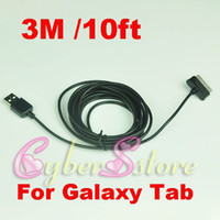 Wholesale 50pcs M ft Data USB Sync Data Charger Cable for Samsung Galaxy Note N8000 galaxy tab P5100 P1000 P7500