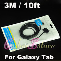 Wholesale 200pcs M ft Data USB Sync Data Charger Cable for Samsung Galaxy Note N8000 galaxy tab P5100 P1000 P7500