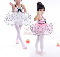 Wholesale Baby girls ballet dancewear tutu dance dress kids girl lace dancing clothes children s costumes performance dresses singlet skirt