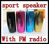 Wholesale Model K7 Sport Mini Speaker support SD TF card and FM Radio bike bicycle speaker DHL