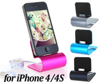 Wholesale FREE DHL Aluminum USB Dock Cradle Station Stand Charger with Cable for iPhone S Rose Black Blue Gray