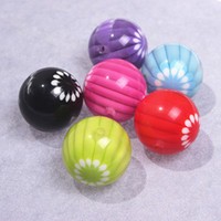 Round flower beads - Mixed color Jewelry beads Acrylic Flower beads mm