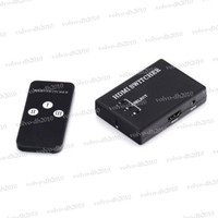 Wholesale Port Mini p HDMI Switch Switcher HDMI Splitter Box for PS3 HDTV DVD with Remote