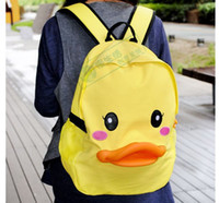 Wholesale Gismo duck backpack duck cartoon canvas bag student bag