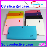 Wholesale DHL Inch Soft Silicone Protective Back Cover Case For Q88 Android Tablet PC RW L11