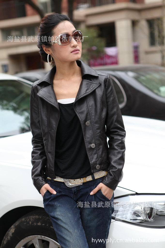 2013 Women'S Foreign Trade Leather Jacket Last Single Short ...