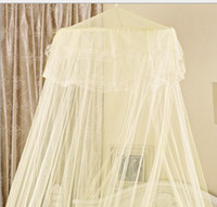 Full Circular Insecticide Treated Free shipping-Summer Hot Selling! Good Sleeping Graceful Elegant Bed Curtain Netting Canopy Mosquito Net