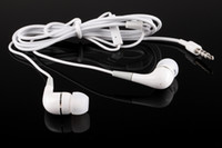 Wholesale Cheaper White New In Ear EarBud Headphones With Mic for iPad Mp3 Mp4 Player Earbuds Headset