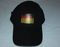 Wholesale EL Cap Flashing Cap Baseball Cap Golf Cap Lighting Up and Down Sound Activated