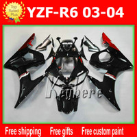 ABS aftermarket yamaha parts - Free gifts Custom ABS race fairing kit for YZFR6 YZF R6 YZF R6 fairings G5i popular red black aftermarket motorcycle parts