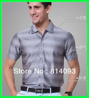 Cheap Men men silk shirt Best Polo Bussiness Casual Tee mulberry silk men wear