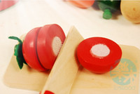 Wholesale 2013 Children pretend wood kitchen toys Baby kitchen fruit toy Wooden food set Housekeeping toys for toddler Baby education toys