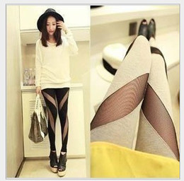 Women's Mesh Leggings New Lady's Mesh Stretch Leggings Pants Fashion Night Club Girl's Mesh Sexy Tights Trousers Black Grey Free Shipping