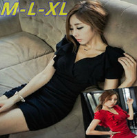 Wholesale Summer wear new deep v neck sexy ladies tights package hip render small dress fashionable dress