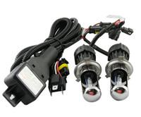 al por mayor lámpara de xenón hid bi-El coche escondió 35w H4 Bi xenón Lamp12V H4-3 HID BIDED alta bombilla 4300k 5000k 6000k 8000k 12000k para el faro automotor