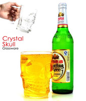 Beer Steins funny head - ml Crystal Skull Head Vodka Shot Glass Beer Cup Drink Ware Home Bar Party Creative Funny Cup Y4009B