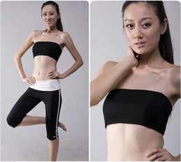 Wholesale 250 STRETCHY BASIC YOGA WORKOUT BLACK WHITE BANDEAU BRA MINI TUBE TOP