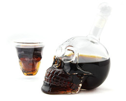 Wholesale ml Crystal Skull Head Vodka Shot Glass Beer Bottle Drink Ware Home Bar Party Creative Gift Cup Y4011B