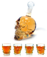 Wholesale New ml Crystal Skulls Vodka Bottles Skull Cups Funny Wine Set Creative Winebottle And Cup Y4011B Y4013B