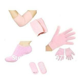 Wholesale 1pair gel socks pair gel glove pair gel Elbow set Spa Moisturizing Skincare therapy treatment