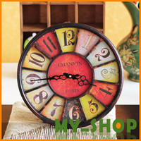 Wholesale American antique wrought iron clocks high grade wall clocks120