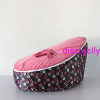 Wholesale PROMOTION Origiinal doomoo bean bag chair Baby Toddler Kids Portable Bean Bag Seat Snuggle Bed Infant beanbags lily flower pink