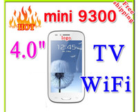 Wholesale 9300 i9300 TV WiFi quot inch Touch Screen Dual SIM Card Quad Band mobile Cell Phone with