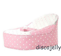 Feed Bag - PROMOTION Origiinal doomoo bean bag chair Baby Toddler Kids Portable Bean Bag Seat Snuggle Bed Infant feeding beanbags mini pink dots