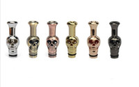 Wholesale Metal Drip Tips Mouth for Ego EE2 Vivi Nova e cigarette Drip Tip Skull Drip Tip