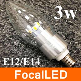 3W E12 / E14 / E27 dimmable conduit bougie Ampoule Lampe Chaud / Cool Blanc 2700K 3500K 110v 220v CE ROHS à partir de e27 ce smd fournisseurs