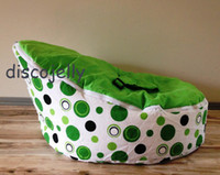 Wholesale PROMOTION doomoo Baby Bean Bag Snuggle Bed Portable Seat Nursery Rocker multifunctional tops baby beanbags chair green dots lime