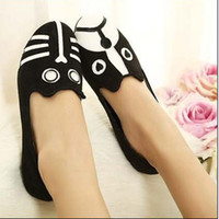 Wholesale European Style Cat amp Dog Fashion flat heel shoes Women canvas single shoes flats