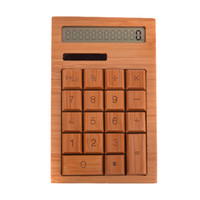 Wholesale Unique Bamboo Solar Powered keys quot LCD Digit Calculator