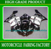 Wholesale White black West motorcycle Fairings kit for Kawasaki Ninja ZX6R new motobike fairing set ZX R bodykits with gifts