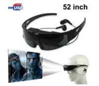 Wholesale 52inch Wide Screen Virtual Private Cinema Digital Video Eyewear Glasses Earphone V52 H536