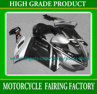 Wholesale Black silver moto Fairings Kawasaki Ninja ZX6R ABS bodywork fairing kit ZX R plastic body kits with gifts