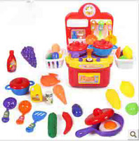 Wholesale Simulation children kitchen utensils with music light multi purpose tableware combined toy